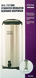 14L/3.7 GAL Stainless Insulated Beverage Dispenser