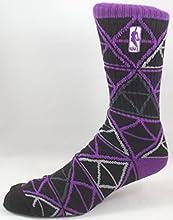 NBA Logoman All-Star Game 2015 Saturday Night BlackPurpleGrey Socks