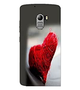 PrintDhaba Heart D-2232 Back Case Cover for LENOVO K4 NOTE A7010 (Multi-Coloured)