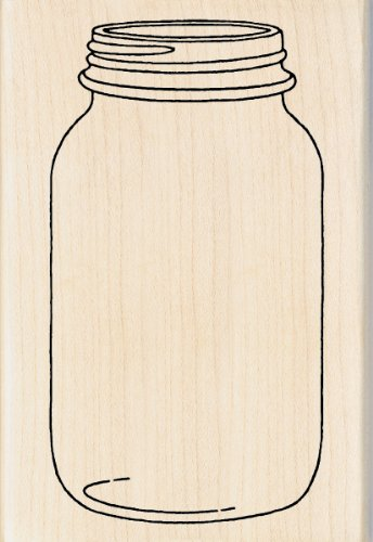 Inkadinkado Mason Jar Wood Stamp