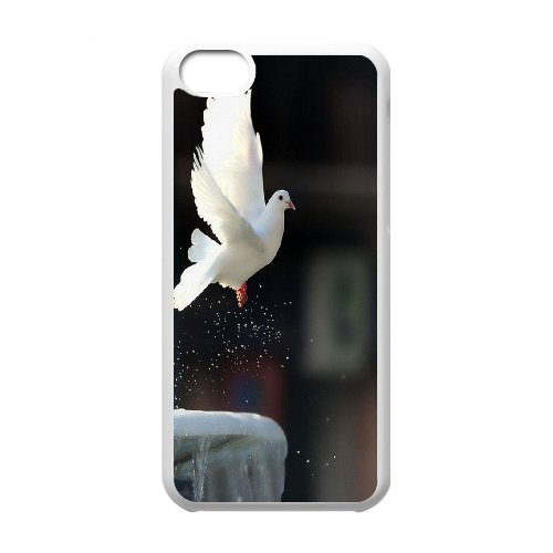 [H-DIY CASE] For Iphone 5c -White Dove,Holy Spirit-Love Peace-CASE-16