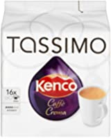 TASSIMO Americano Smooth (Previously Kenco Cafe Crema) 16 T DISCs (Pack of 5, Total 80 T DISCs)