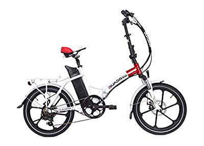 Electric bicycles QUADRINI, folding electric bicycles, model MINIMAX, SHIMANO, Battery lithium-ion 36V10Ah (360Wh),Rear motor 36V 350W 8FUN brand