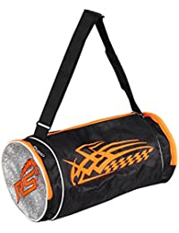 RS SPORTS Synthetic 22 Liters Black And Orange Sports Duffel