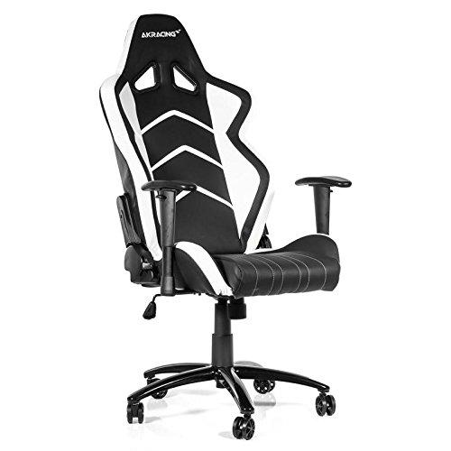 AK Racing Player PC Gaming Chair - Black and White - AK-K6014-BW