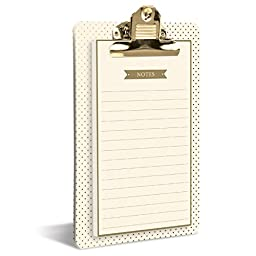 Graphique Clipboard Notepads, Cream and Gold (CLN1144)
