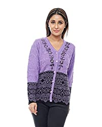Perroni Women's Acrowool Cardigan (Purple, L)