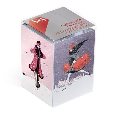 Art Deco Fashion Pack of 20 Christmas Cards (Mini Box)||RF10F