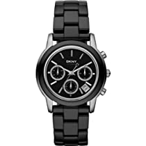 DKNY Chronograph Carbon Coated Ceramic Ladies Watch NY8314