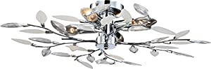 globo 63160-4D E14 40 Watt Vida Ceiling Lamp Plastic-Decor, Chrome from globo