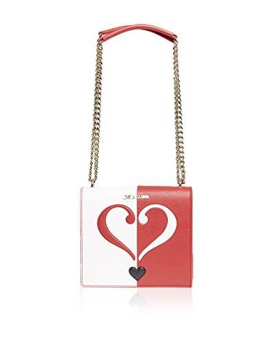 Love Moschino Borsa A Spalla [Rosso/Bianco]