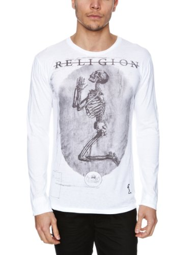 RELIGION LTD Praying Skeleton Long Sleeve Printed