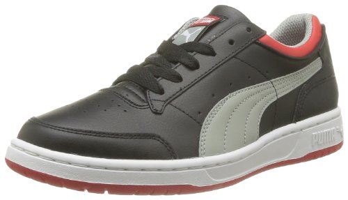 Puma Boys' Full Court Lo Jr Trainers Black Noir (Black/Limestone Gray/Red) 38