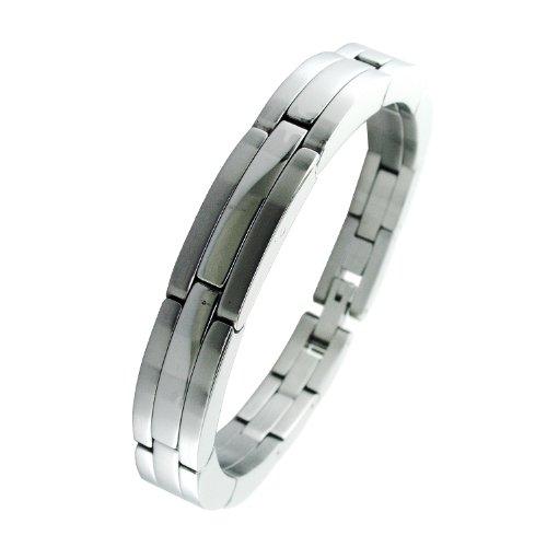 Men's Stainless Steel Link Bracelet, 9