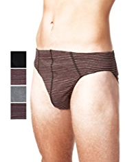 XXXL 4 Pack Cool & Fresh™ Pure Cotton Striped Slips with StayNEW™