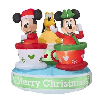 Airblown Animated Mickey And Friends Teacup Ride front-922277