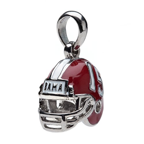 Alabama Crimson Tide 3-D Football Helmet Bead Charm - Fits Pandora & Others - Roll 'Bama Roll!