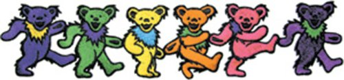 Application Grateful Dead Dancing Bears Patch, 3 x 14""