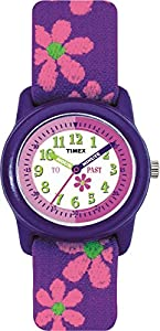Timex Kids Girl's Quartz Watch with Multicolour Dial Time Teacher Display and Multicolour Textile Strap - T890224E