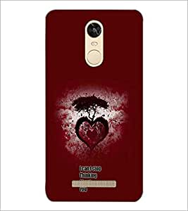 PrintDhaba Heart with Quote D-1158 Back Case Cover for XIAOMI REDMI NOTE 3 (Multi-Coloured)