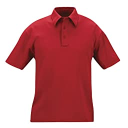 Propper Men's I.C.E. Men's Short Sleeve Performance Polo Shirt, Red, X-Large Regular