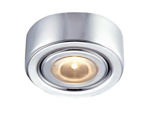 Alico Lighting MLE-101-15 LED Puk Collection with Mounting Ring, Chrome Finish
