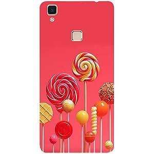 Casotec Lollipop Design 3D Printed Hard Back Case Cover for Vivo V3 Max