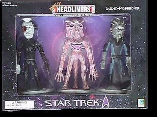 Star Trek Movie Headliners Super-Poseables; Jem'Hadar, Borg, Species 8472
