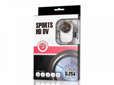 Mini Helmet 1080P Hdmi Sport Camera Dvr W/ Lcd + Waterproof Dive Case