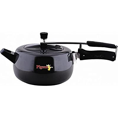 Pigeon Hard Anodized Induction Base Marvella Pressure Cooker 5.5 Litres Black