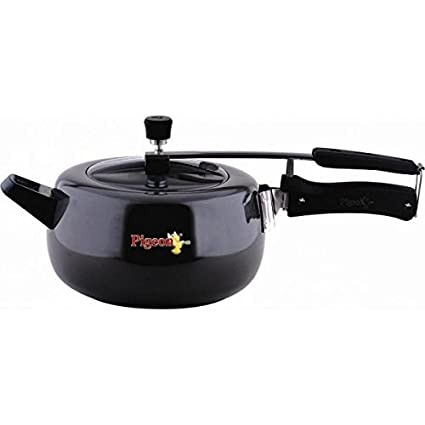 Pigeon Hard Anodized Marvella Pressure Cooker 5.5 L (Induction Base, Inner Lid )