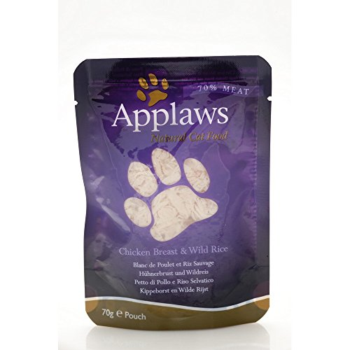 APPLAWS CAT Natural food in busta con pollo e riso umido gatto gr. 70
