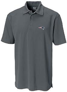 NFL New England Patriots Mens CB DryTec Genre Polo, Onyx by Cutter & Buck