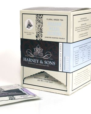 Dragon Pearl Jasmine, 20 Count Wrapped Sachets By Harney & Sons