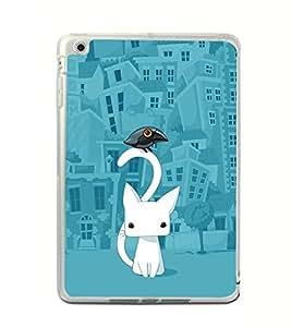 Cat Cartoon 2D Hard Polycarbonate Designer Back Case Cover for Apple iPad Mini 4 :: Apple iPad Mini 2 :: Apple iPad Mini 2 Wi-Fi + Cellular :: Apple iPad Mini 3 :: Apple iPad Mini 3 Wi-Fi + Cellular