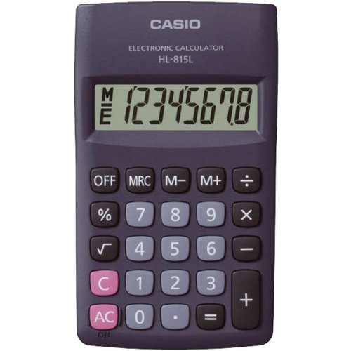 Casio Hl-815L-Bk-W Portable Type Calculator With 8-Digit Extra Big Display