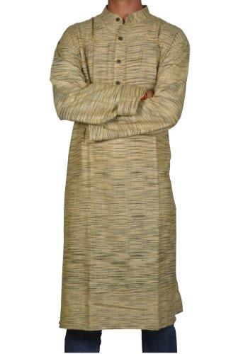 Handmade Casual Indian Khadi Mens Long Kurta Fabric For Winter & Summers Size 4XL