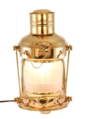 """Electric Lantern - Ships Lanterns Brass Anchor Lamp 15.5"""" - Nautical Lighting"""