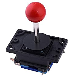 RED Ball TOP Arcade Joystick - Short Shaft 2/4/8 WAY Red 8 Way Joystick Fighting Stick Repair Parts for Arcade Gaming