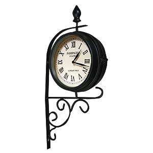 Horloge de gare double face style victorien cuisine maison - Pendule de gare double face ...