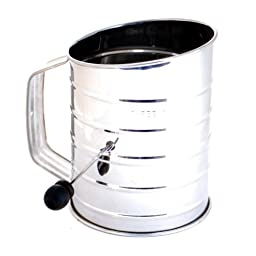 5 X Norpro 136 3-Cup Stainless Steel Crank Flour Sifter