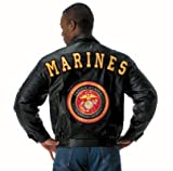 MARINES LEATHER JACKET - L
