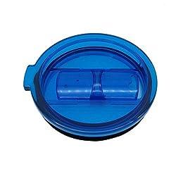 LEERYA Spill And Splash Resistant Lid With Slider Closure For 30 Oz (blue)