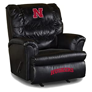 NCAA Nebraska Cornhuskers Big Daddy Leather Recliner by Imperial