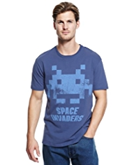 Blue Harbour Pure Cotton Space Invaders™ T-Shirt
