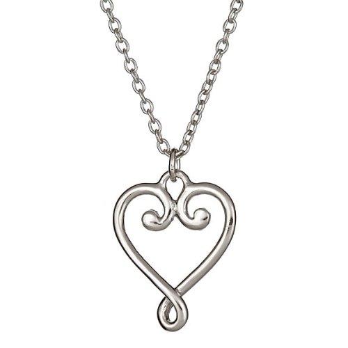 Designer Inspired Venezia Goldoni Heart Pendant 18