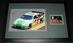 Signed Mark Martin Photo - Framed 11x17 Poster Display - Autographed NASCAR Photos by Sports Memorabilia