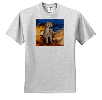 Dogs Golden Retriever - Golden Retriever Puppy - T-Shirts - Youth Birch-Gray-T-Shirt Small(6-8)