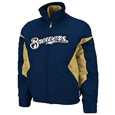 MLB Milwaukee Brewers Triple Peak Women's Jacket, Navy Nugget