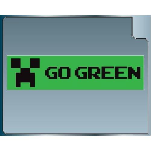 Amazon.com: GO GREEN Funny Minecraft Creeper Bumper Sticker
